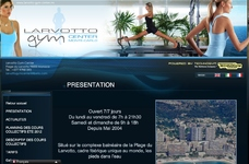 Site vitrine pour la salle de fitness Larvotto Gym Center à Monaco